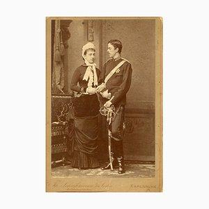 Unknown - Prinzessin Victoria und Prinz Gustaf von Schweden - Ancient Photo - 1881