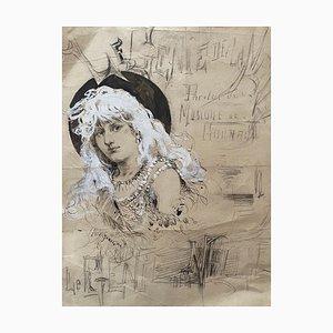 Unbekannt, Le Genie, China Ink, Frühes 20. Jahrhundert
