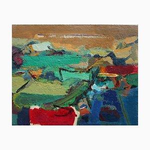 Paul Nicholls, Landschaft, Sardinien, Acryl auf Karton, 2010er