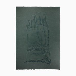 Giacomo Porzano, Glove, Etching on Cardboard, 1972