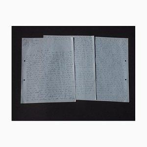 Jean-Pierre Guillermet, Autograph Letter Signed by Jean-Pierre Guillermet to Nesto Jacometti, 1960s