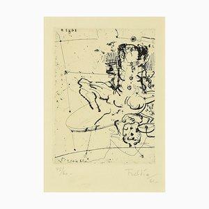 Wilhelm Freddie, Komposition, Radierung, 1961