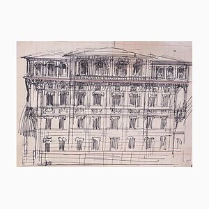 Gabriele Galantara, Architecture, Pen Drawing, 1910s