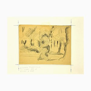 Mogniat-Duclos Bertrand, Dans le Jardin, Dessin, 1950s