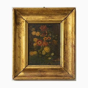 Unknown, Flowers, Oil Painting on Cardboard, Early 20th Century