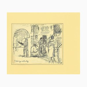Mogniat-Duclos Bertrand, Figures, Pen on Paper, 1950s
