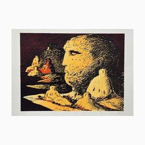 Salvatore Fiume, Figures, Screen Print, Late 20th Century