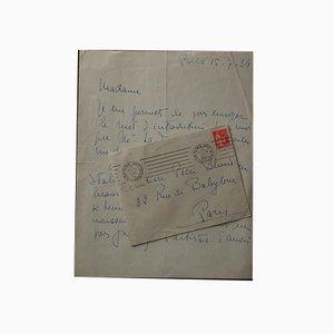 Lettre Autographe, Gris, Madeleine, 1934