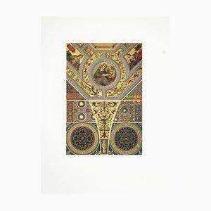 Unbekanntes, Italienisches Renaissance Muster, Vintage Chromolithographie, 19. Jahrhundert