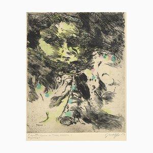 Guelfo Bianchini, Fauno, incisione, 1959