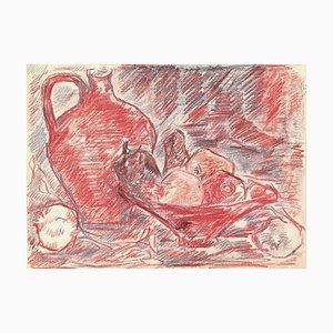 Herta Hausmann, Nature Morte, Pastel sur Papier, Moyen-20ème Siècle