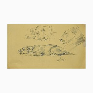 Wilhelm Lorenz, Sketch, Drawing on Paper, 1940s