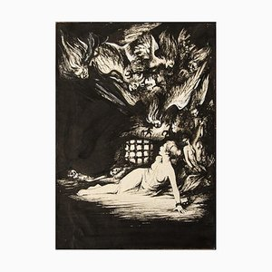 Unknown, The Prisoner of Nightmares, Lithograph, Early 20th Century