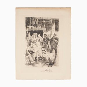 Auguste Brouet, Passing, Etching, Early 20th Century