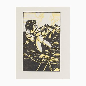 Jean-Gabriel Daragnès, Nude of Woman, Woodcut on Paper, Early 1900