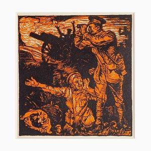 Frank Brangwyn, Fight of Neuwe Chapelle, Woodcut, 20th Century