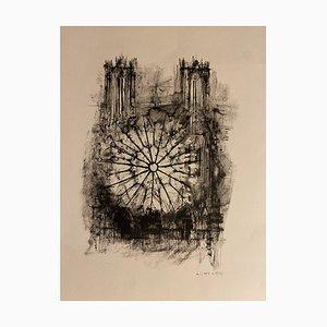 Michel Ciry, Notre Dame De Paris, Lithograph, 1964
