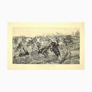 Giovanni Fattori, Cavalry, Etching, 1889