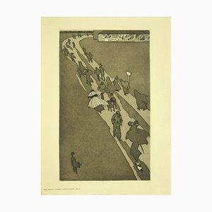 Eugen Kirchner, The Exodus, Etching, Early 20th Century