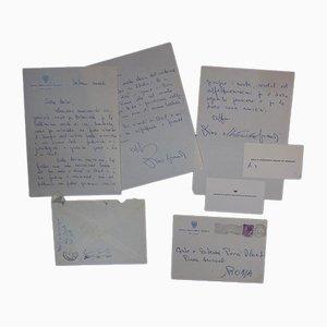 Dino Grandi, Glory To Pecci Blunt!, 2 Autograph Letters Signed, 1957/1958