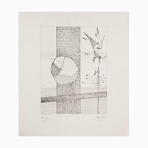 Rolando Persi, Composition, Etching, 1973
