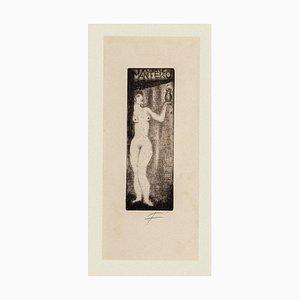 Michel Fingesten, Figur, Radierung, frühes 20. Jahrhundert