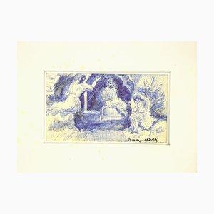 Mogniat-Duclos Bertrand, Figures dans le Paysage, Plume, 20ème Siècle