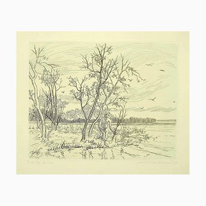 Andre Roland Brudieux, Narcisse, Etching, Mid-20th Century