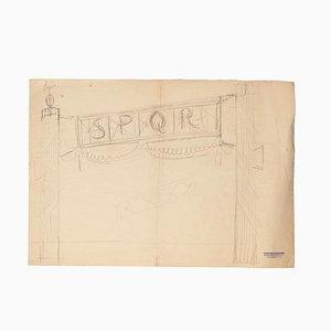 Carlos Reymond, Designs, Bleistift und Pastell, Mitte des 20. Jahrhunderts