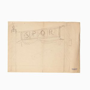 Carlos Reymond, Designs, Pencil and Pastel, Mid-20th Century