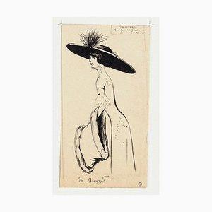 Maurice Lourdey, Porträt, Tusche auf Papier, 1910