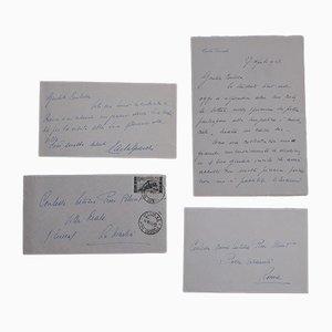 Carla Gronchi, Autograph Letters, 1955/1957, 2er Set