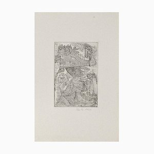 Ursula Stock, Komposition, Radierung, 1964