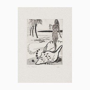 Robert Naly, Marine Nature, Etching on Paper, 1950s