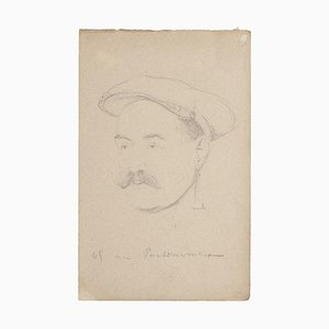 Bernard Milleret, Portrait, Pencil on Paper, Early 20th Century