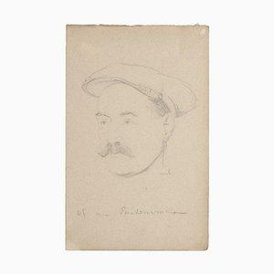 Portrait de Bernard Milleret, Crayon sur Papier, Début 20ème Siècle