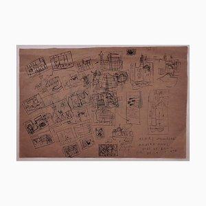 Inconnu, Paysage, Chine Encre Signée Henry Zadourian, 20ème Siècle
