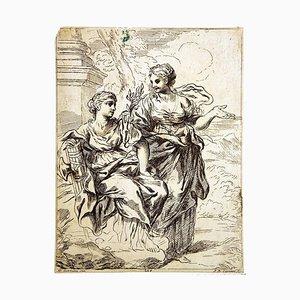 Domenico Gabbiani, Woman Figures, Etching, 1782