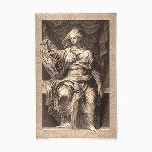 Domenico Cunego, Weibliche Figur, Radierung, 1777