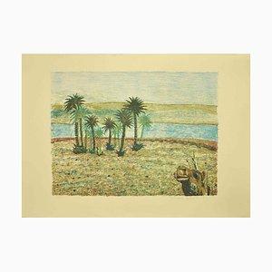 Giuseppe Gallizioli, The Desert, Lithograph, 1980s