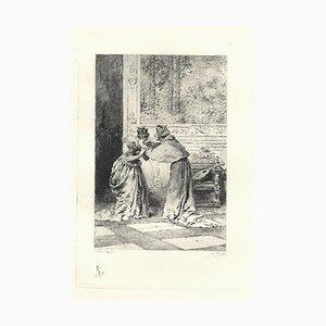 Emile Boilvin, Cardinal of Lorraine, Etching, 1882