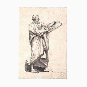 Inconnu - The Scribe - Encre Originale et Aquarelle sur Papier - 19ème Siècle