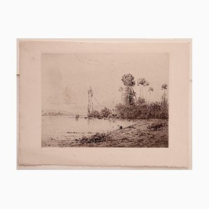 Hippolyte Camille Delpy, Landscape, Etching on Paper, 1904