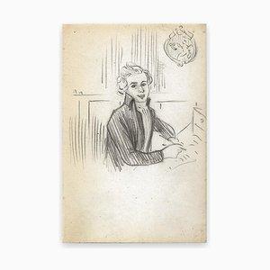 George Auriol, Der Buchstabe, Zeichnung, 1890er
