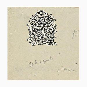 Mino Maccari, Tale and What, Tintenschreiber und Bleistift, Mitte 20. Jahrhundert