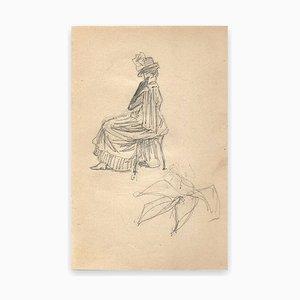 George Auriol, Sketch of A Woman, Drawing, 1890s