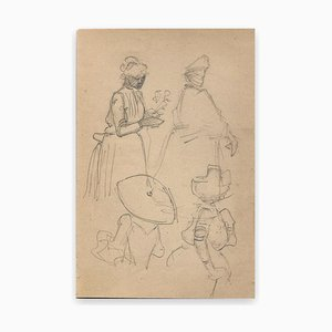 George Auriol, Sketches of Women, Drawing, 1890s