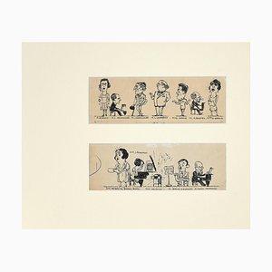 Inconnu, Caricatures, Encre de Chine, 20ème Siècle