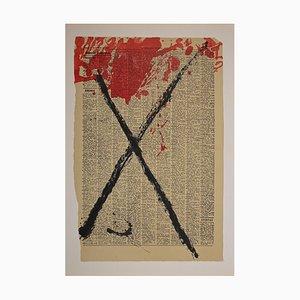 Antoni Tàpies, Cross, Lithographie, 1968