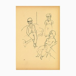George Grosz, Conversation from Ecce Homo, Offset and Lithograph, 1923